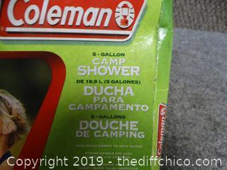 Coleman Shower 5 gallon  NIB
