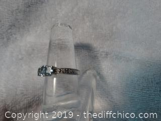 Silver Ring Size 7 with Stone