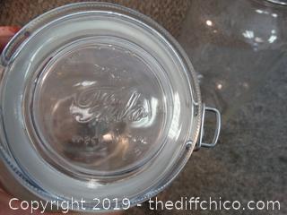 2 Glass Jars