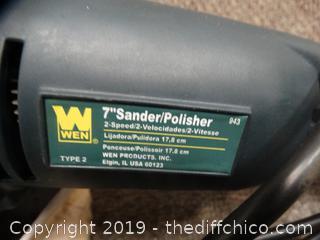 """Wen 7"""" Sander/ Polisher wks"""