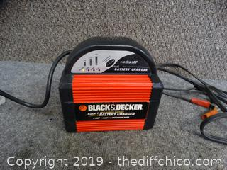 Black & Decker Battery Charger powers on