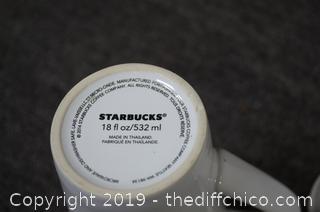 3 Tall Starbuck Coffee Mugs