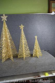 3 Glitter Christmas Trees