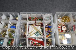 Christmas Decorations plus Storage Containers