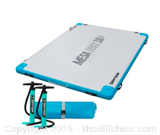 Driftsun Inflatable Floating Mesa Dock Swim Deck Platform - 10ft x 6.5ft (J1)