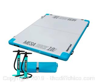 Driftsun Inflatable Floating Mesa Dock Swim Deck Platform - 10ft x 8ft (J4)
