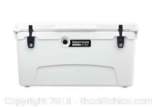 Driftsun 75 Quart Performance Ice Chest - Insulated Rotomolded Cooler - White (J6)