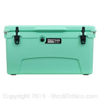 Driftsun 75 Quart Performance Ice Chest - Insulated Rotomolded Cooler - Sea Foam (J7)