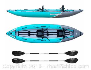 Driftsun Rover 220 Inflatable Two Person Whitewater Kayak (J13)