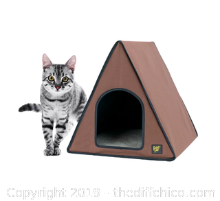 Frontpet A-Frame Heated Cat House For Outdoor & Indoor Cats (J20)