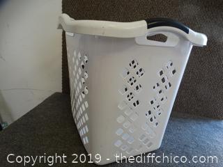 White Laundry Hamper