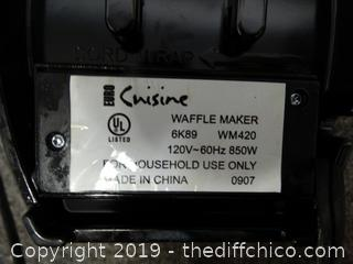 Cuisine Waffle Maker wks