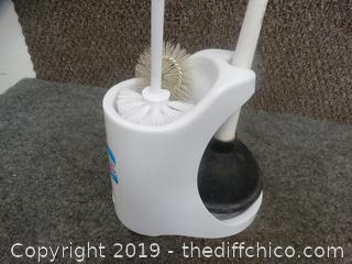 Toilet Brush & Plunger Set