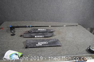 2 Yahill Folding Trekking Walking Sticks-49in long