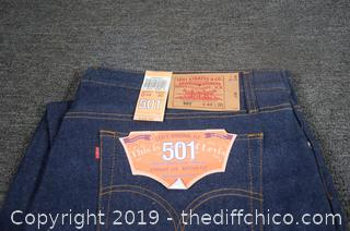 1 New Pair of Levis 501 44 x 30