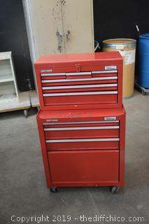 Rolling Craftsman 2 Piece Tool Box