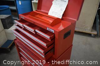 Rolling Craftsman 2 Piece Tool Box