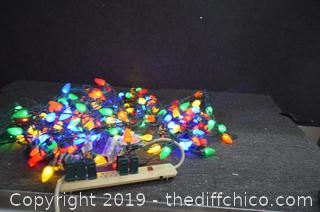 5 Working Christmas Light Strands