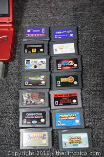 Working Game Boy w/14 Games and Case