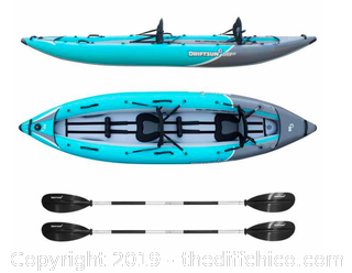 Driftsun Rover 220 Inflatable Two Person Whitewater Kayak (J3)