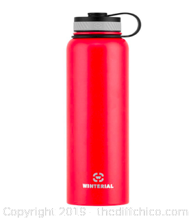 WINTERIAL 40OZ STAINLESS STEEL WATER BOTTLE -RED (J8)