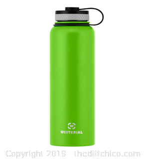 WINTERIAL 40OZ STAINLESS STEEL WATER BOTTLE - GREEN (J9)