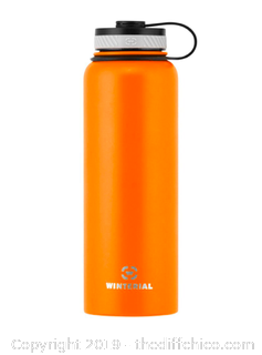 WINTERIAL 40OZ STAINLESS STEEL WATER BOTTLE - ORANGE (J10)