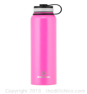 WINTERIAL 40OZ STAINLESS STEEL WATER BOTTLE - PINK (J11)
