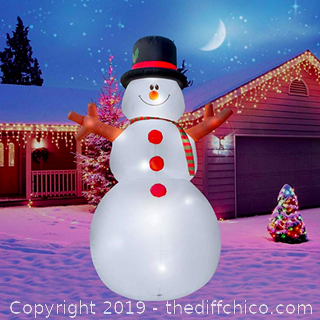 Holidayana 15 Ft. Giant Inflatable Christmas Snowman (J13)