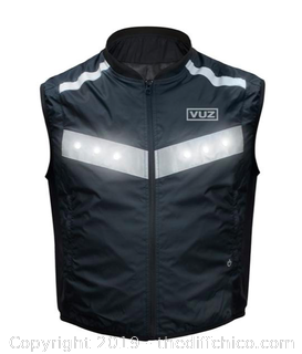 Vuz Moto LED Hi-Vis Running, Walking & Riding Vest - Medium Sized (J15)
