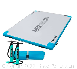 Driftsun Inflatable Floating Mesa Dock Swim Deck Platform - 10ft x 6.5ft (J116)
