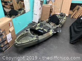 Elkton Outdoors 12' Two Person Sit On Top Fishing Fishing Kayak (J165)