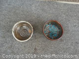 2 Pottery Pieces