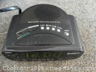 Sony Radio Alarm Clock