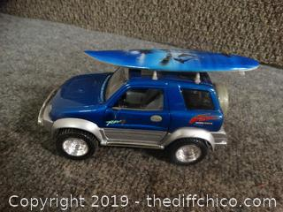 Toyota Rav4 With Surf Board Toy Car