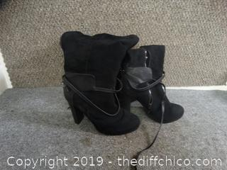 Black Boots Size 10