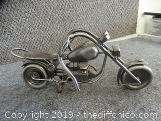 Metal Motorcycle Decor