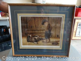 "Jim Daly  ""THE THIEF ' Framed Art #1193 of 1500"