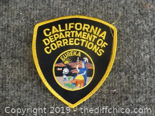 California Department Of Corrections Patch Eureka