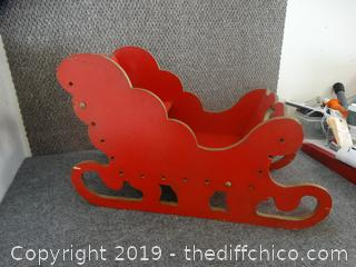 Red Wood Sleigh