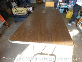 Heavy Fold Up Adjustable Table