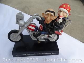 Motor Running Bobble Head Couple