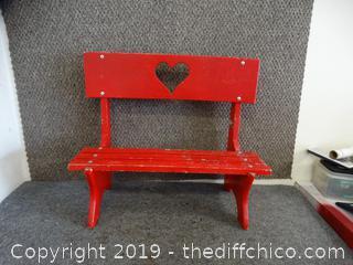 Kids Red Bench
