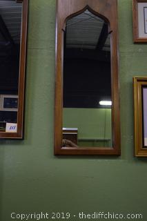 Framed Walnut Mirror