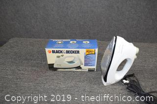 Working Black and Decker Steam Iron
