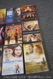 15 DVD's