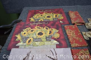 Mixed Lot-throw, place mats and more