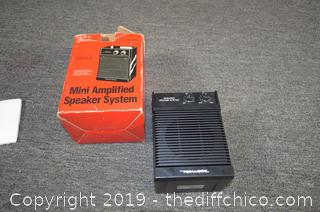 Mini Amplifier Speaker System w/Box