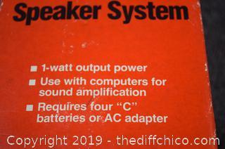 Mini Amplifier Speaker System w/Box