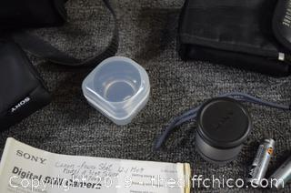 Sony Cyber Shot Camera and Accessories
